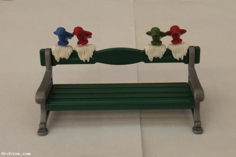 playmobil banc de parc poque 1900 avec des oiseaux archine. Black Bedroom Furniture Sets. Home Design Ideas