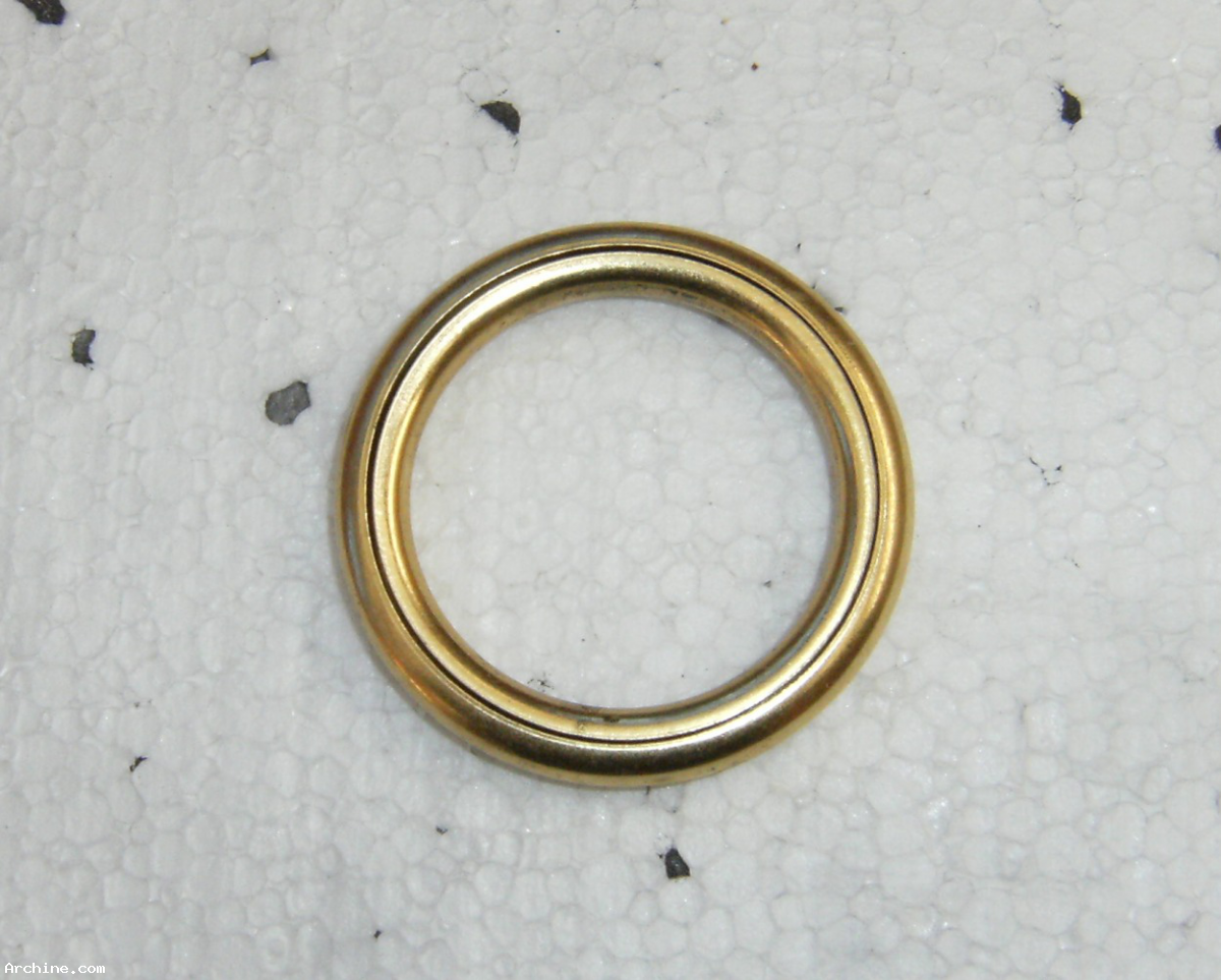 anneau de rideau en m 233 tal dor 233 creux 45 mm int x 60 mm ext archine