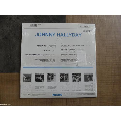 25cm JOHNNY HALLYDAY madison twist Stéréo (NEUF)