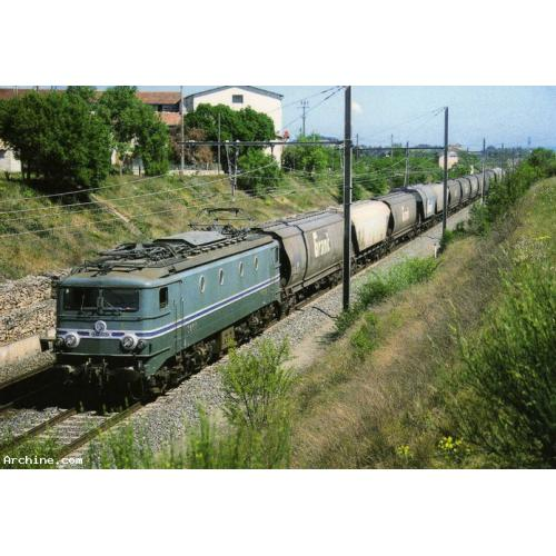 RU 0308 - Train - loco CC 7107 vers SAINT-JUST - Ardèche 07 - SNCF