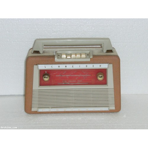 poste radio transistor portable schneider compagnon 1961 archine. Black Bedroom Furniture Sets. Home Design Ideas