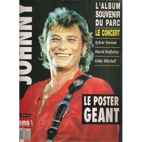 johnny hallyday gens d 39 aujourd 39 hui poster g ant hors s rie n 3 h rare archine. Black Bedroom Furniture Sets. Home Design Ideas