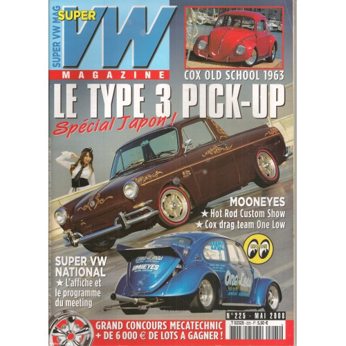 super vw magazine mensuel n 225 le type 3 pick up avec poster mai 2008 archine. Black Bedroom Furniture Sets. Home Design Ideas