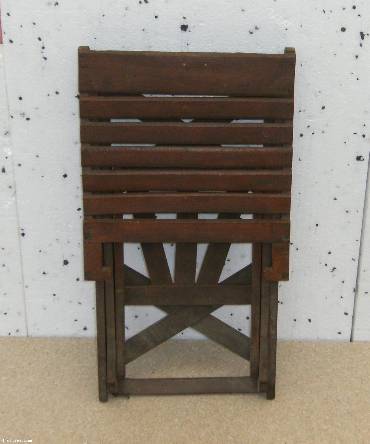 ancienne chaise pliante en bois enfant archine. Black Bedroom Furniture Sets. Home Design Ideas