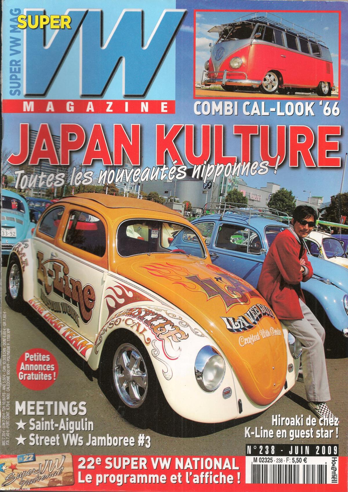 super vw magazine mensuel n 238 japan kulture avec poster juin 2009 archine. Black Bedroom Furniture Sets. Home Design Ideas