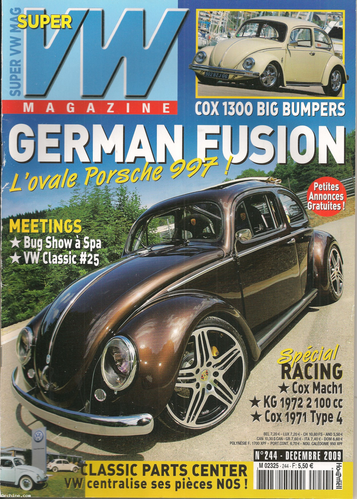 super vw magazine mensuel n 244 german fusion avec poster novembre 2009 archine. Black Bedroom Furniture Sets. Home Design Ideas